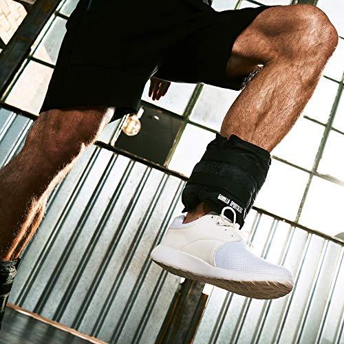 GORILLA SPORTS® Gewichtsmanschetten 2er-Set für Fuß- und Handgelenke - Laufgewichte Schwarz 5 KG (2 x 2,5 KG)