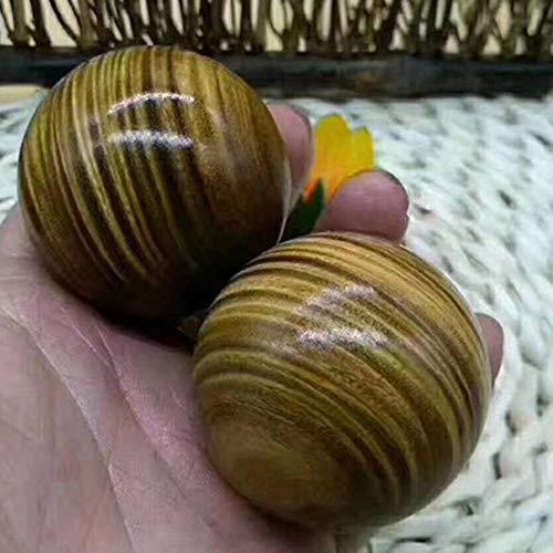Sxuefang Baoding Fitnessball,Mahagoni 5cm grün Sand Gesundheitswesen Ball Fitness-Ball Handball-Geschenk für ältere Mensche