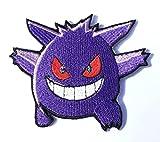 Gengar Patch Pokemon Go bestickt Eisen/Nähen auf Badge DIY Aufnäher Souvenir Kostüm