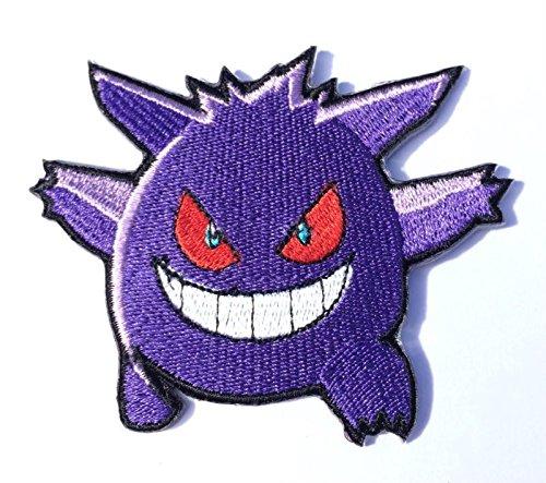 Gengar Patch Pokemon Go bestickt Eisen/Nähen auf Badge DIY Aufnäher Souvenir Kostüm (Pokemon Gengar Kostüm)