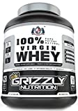 #6: Grizzly Nutrition 100% Virgin Whey Protein with Digestive Enzymes & Pro Biotics - 2.21lb-1kg Pure Natural Whey Unflavored