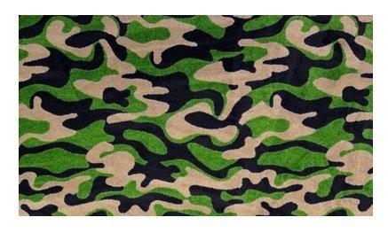 Dark Multi Teppich (Funky Camo Dark Army Grün Multi-4'x6' Custom stainmaster Premium Nylon Teppich Bereich Teppich ~ fertig Kanten durch Kinder 'S CHOICE)