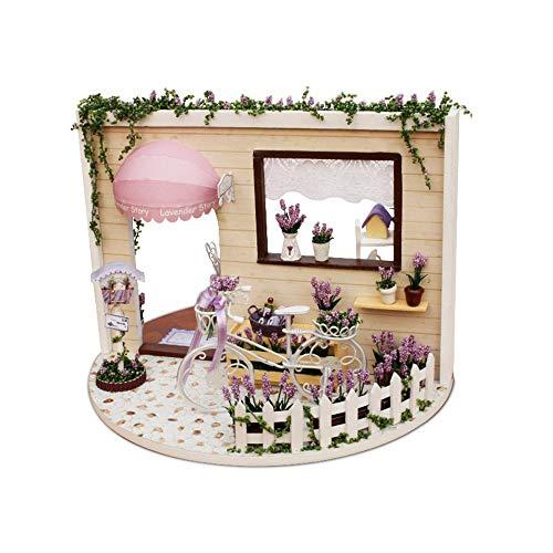Peggy Gu Jouets d'éveil pour Enfants Maison de poupées Miniatures à la Main 3D Kit de Bricolage Histoire de Lavande pour Jardin aérien Casse-tête Jouet éducatif