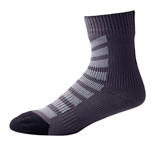 SealSkinz Herren Waterproof MTB Ankle with Hydrostop Socks, Anthracite/Charcoal/Black, Large