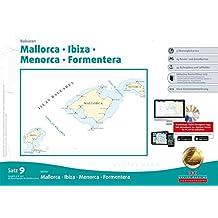 Sportbootkarten Satz 9: Balearen (berichtigt bis 01/2017): Mallorca - Ibiza - Menorca - Formentera