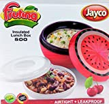 #9: Jayco Leakproof Insulated Lunch Box Carrier BPA Free LUNCH BOX + 1 SALAD BOX Office Lunch Breakfast Food Carry Box With STAINLESS STEEL INNER Tiffin for Officers / Students MULTI Assorted Color