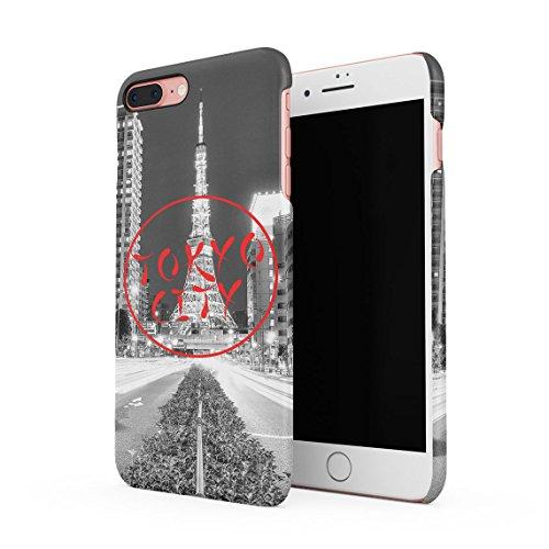 Tokyo Minato Tower Japan Dünne Rückschale aus Hartplastik für iPhone 7 Plus & iPhone 8 Plus Handy Hülle Schutzhülle Slim Fit Case cover Tokyo City