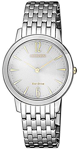 Citizen Damen Analog Quarz Uhr mit Edelstahl Armband EX1498-87A (Citizen Uhr Damen Silber)