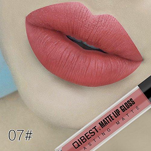 ESAILQ Nouveau Mode Maquillage 18 couleurs Sexy Matte Velvet Long Lasting Lipgloss Liquide Rouge à lèvres Crème (G)