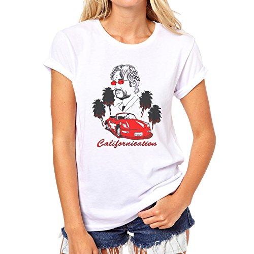 Californication Red Porsche Damen T-Shirt Weiß