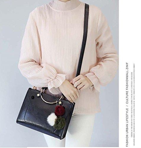 Borsa A Tracolla Da Donna Nicole & Doris Fashion Classic Crossbody Pu Grigio Nero