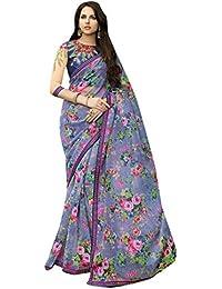 Craftsvilla Women's Net Lace Saree With Blouse Piece(Multicolor ,Free Size)