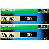 10 Rolls Fujichrome Velvia 100-35mm Film RVP 135-36 Fuji Color Slide Professional Daylight-Balance Exposition large Mode Travail et commercial Fujifilm Prise de vue en intérieur et extérieur