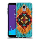 Head Case Designs Flamme Holz Tribal Muster Soft Gel Hülle für Samsung Galaxy J6 (2018)