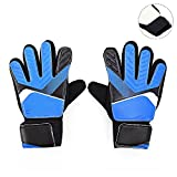 Pingenaneer Fußball-Handschuhe Kinder Jugendliche Torwarthandschuhe mit Fingerschutz/Rutschfest/Verschiedene Größen - Blau S
