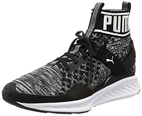 Puma Unisex-Erwachsene Ignite Evoknit Laufschuhe, Schwarz (Puma Black-Quiet Shade-Puma White 01), 44