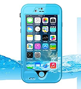Porxintor Waterproof Case with Kickstand Underwater Protection Case for Iphone 6/6s 4.7inch (Light blue)