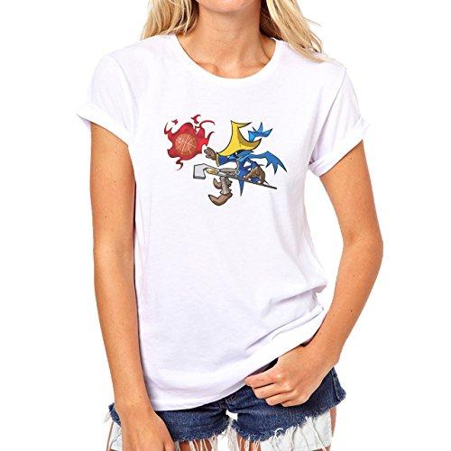 Black Mage Magic Basketball Game Damen T-Shirt Weiß