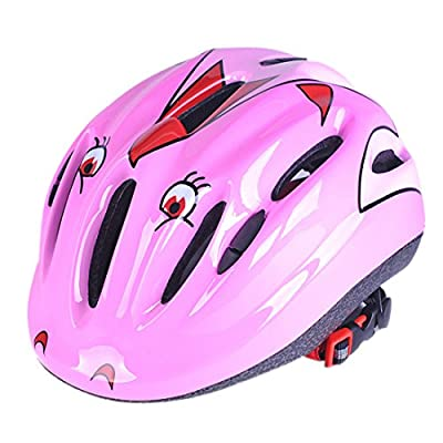 Kids Helmet Set, Lommer 7 Pcs Butterfly Design Child Safety Adjustable Helmet with Knee Elbow Wrist Pads for Cycling, Skating, Scooting for Boys and Girls by Lommer