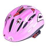 Lommer Fahrradhelm Kinder, Schmetterling Design Helm Kinder Schutzhelm für Fahrrad, Skaten, Scooter für Jungen und Mädchen (Rosa)