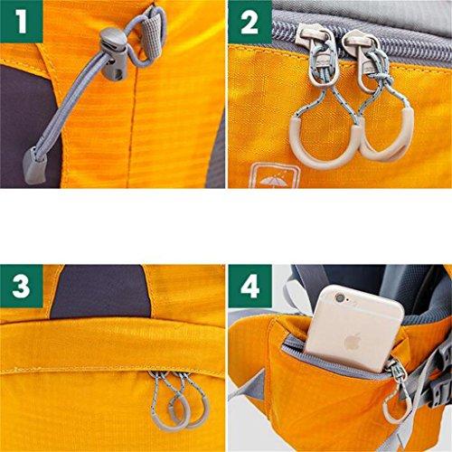 sacchetto di alpinismo uomini e donne borsa a tracolla borsa da viaggio di grande capienza 75L zaino di campeggio ( Colore : Mobiledog Yellow , dimensioni : 75L ) The Hawthorn Red