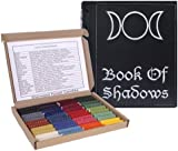 Sherwood Forest Candles 40 Witch's Beeswax Spell Candles and Leather Book Of Shadows Gift Set