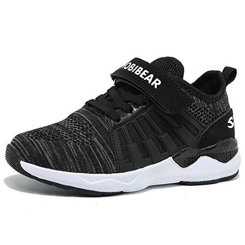GUBARUN Boys Breathable Knit Sneakers Lightweight Mesh Athletic Running Shoes (Athletic Running Sneakers)