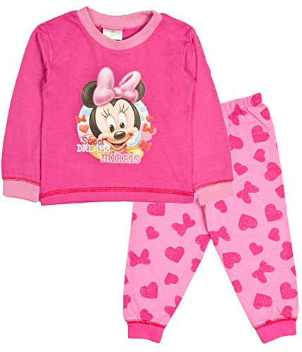 für Babys oder Kleinkinder mit Disney Minnie Mouse / Me to you Tatty Teddy Design, Pyjama-Set, Größe: 6 - 24 Monate Gr. 6-9 Monate, Sweet Dreams Minnie ()