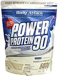 Body Attack Power Protein 90, Vanille, 500g Beutel