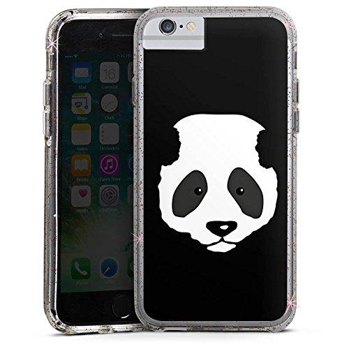 Apple iPhone 6s Plus Bumper Hülle Bumper Case Glitzer Hülle Panda Baer Bear Bumper Case Glitzer rose gold