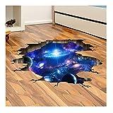 Kuke Wandtattoo 3D KosmischeMilchstraße Planet Space Boden/Decke / Fenster Abnehmbare DIY Wand-Aufkleber Wandsticker für Schlafzimmer (N05,23,6 * 35,4 Zoll)