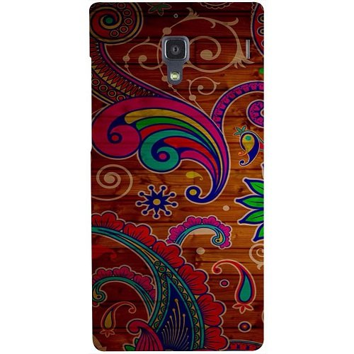 Casotec Wooden Pattern Design Hard Back Case Cover for Xiaomi Redmi 1S