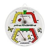 Kinder Zimmer Bimetall Kombi Thermometer / Hygrometer Analog . Thermohygrometer / Luftfeuchtemessung .