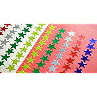 Metallic Multi Coloured Stars 13mm Ideal as Reward Stickers, 12 Sheets/Pack from LABELS4U ® TM Branded Product