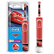 Oral-B Stages Power Kids Electric Rechargeable Toothbrush with Disney Pixar Cars Characters, 1 Handle, 1 Brush Head, UK 2 Pin Plug for Ages 3+ (Packaging May Vary), Stocking Filler for Kids