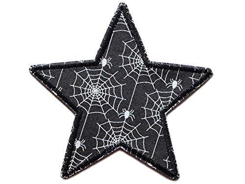 Stern Spinnennetz Spinne Applikation, Halloween Aufnäher zum aufbügeln für Kinder/Erwachsene (Halloween Spinnennetze Spinnen,)