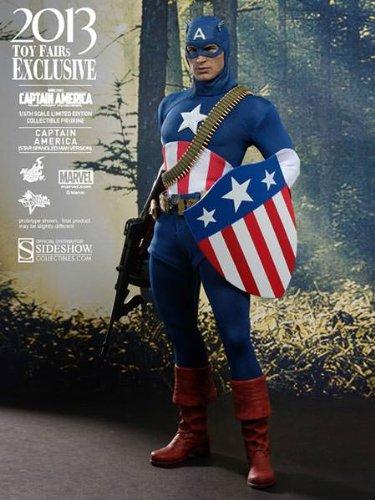 205–Figur–Kino–Captain America–The First Avenger–Star Spangled Man Version SDCC 2013–1/6mm (Captain America-dekor)