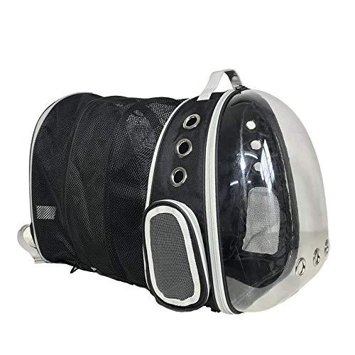 Good Time Store Pet Space Bag Transparent Cat Backpack Out Portable Bag, Third Generation Transparent Pack Black
