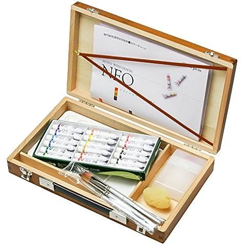Resina 18 colori brocca casella di acquerello Kusakabe impostare Brown (japan import)