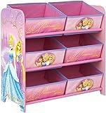 Disney Princess Kids Bedroom Storage Unit with 6 Bins by HelloHome