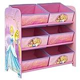 Disney Prinzessin - Regal zur Spielzeugaufbewahrung mit sechs Kisten für Kinder