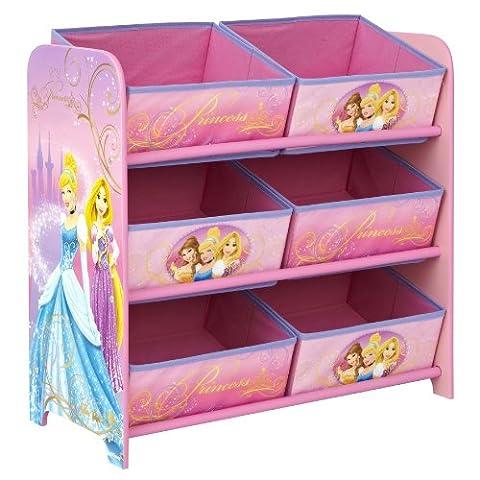 Worlds Apart 864213 Rangement 6 Corbeilles Disney Princesses Rose