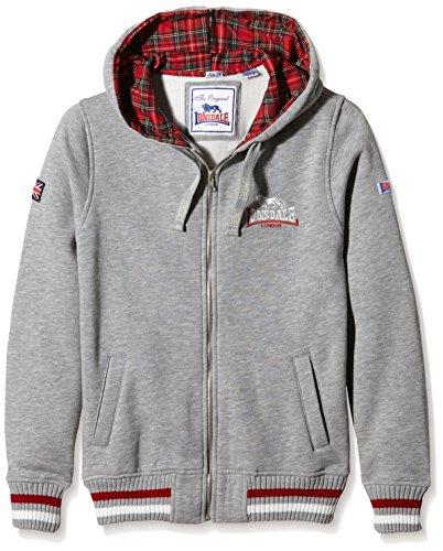 Lonsdale Herren Sweatshirt Sweatshirt Hooded Zip Lancaster Steingrau