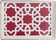 Porland Morocco Kahvaltı Tabağı Desen5 Fuşya 18x13cm, Porselen
