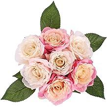 Fleurs Artificielles Ruyi Roses Rose Rouge SOLEDI Fleurs Mélangés pour Bouquet De Mariée Mariage Salon Table Maison Jardin Décoration