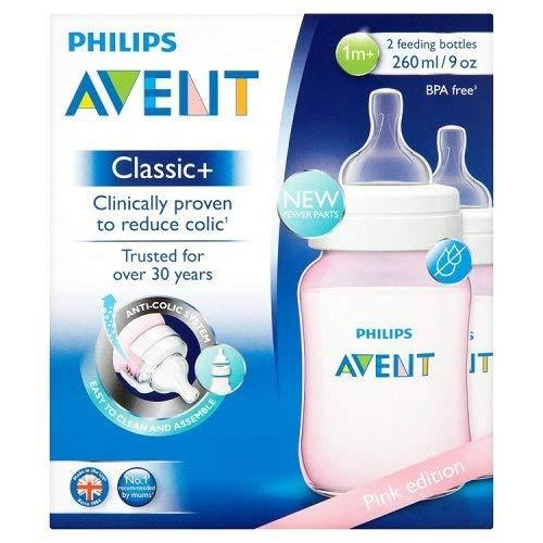 Philips Avent Klassischer+ Saugflasche SCF564/27 (260ml/266,2 ml) - Rosa