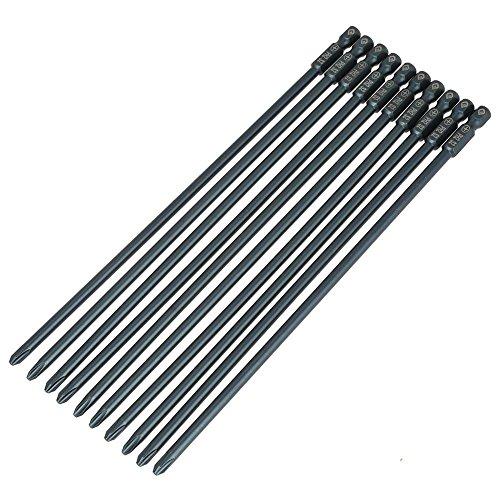 10 stücke 200mm Lange Philips Schraubendreher Bits Set S2 Stahl 1/4 inch Sechskantschaft Magnetische Kreuz PH2 Schraubendreher Bits