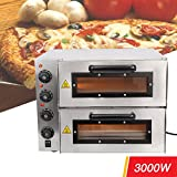 Iglobalbuy électrique 3000 W 16 double Deck pizzöfen Conv Collection de Machines de Fabricant...