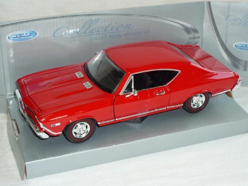 Welly Chevrolet Chevelle 1968 Coupe SS396 Rot 1/24 Modell Auto - Chevy 1968 Chevelle