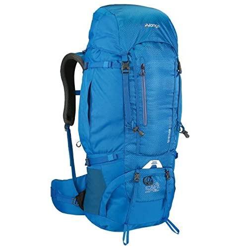 51KKSvNepjL. SS500  - Vango Sherpa 60:70 Litre Rucksack with Shaped Adjustable Harness and Detachable Rain Cover, Available in Cobalt Blue/Paprika/Black